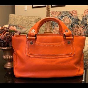 CELINE Handbag leather orange purse